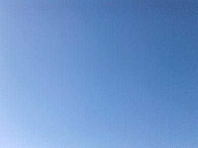 Bleu, le ciel est bleu...!